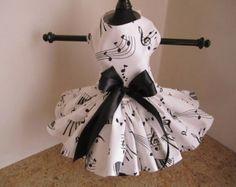 Dog Dress XS White with Navy Polkadots by NinasCoutureCloset