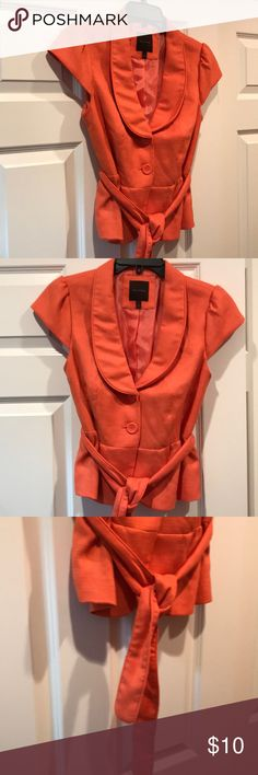 The Limited coral orange salmon jacket small Cute short sleeve jacket for spring! The Limited Jackets & Coats