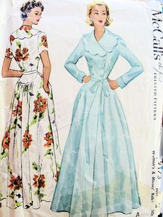 Classy McCall's 9173 robe pattern from 1952