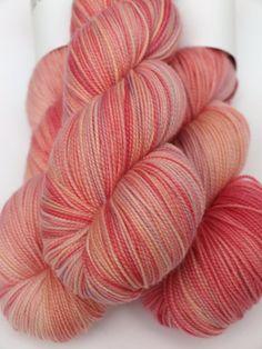 100% Superwash Merino, Hand Dyed Fingering/Sock Yarn, Star Gazer Lily