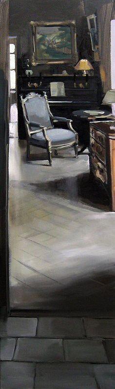 LA COMMODE PARISIENNE Huile sur toile 160 x 40 cm / Oil on canvas 63 x 15,7 inches Vendue