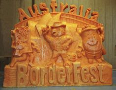 cheese sculpture for Borderfest 2010