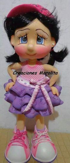 9fac6e261882169a94866d5d75dea3e0.jpg (240×560) Cute Clay, Pasta Flexible, Handmade Crafts, Doll Patterns, Foam Crafts, Arts And Crafts, Diy Crafts, Felt Dolls, Doll Toys