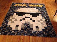 Homemade Star Wars quilt for the boyfriend