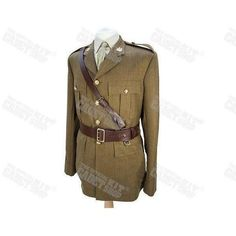 Genuine Military Issued Officers Brown Leather Sam Browne Belt Assorted Sizes