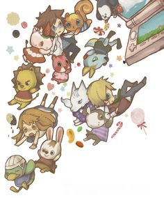 Animal crossing fanart is always so cute I can't stand it.