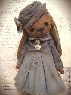 Мишель - коричневый,зайка,зайка девочка,зайка в платье,зайка в подарок