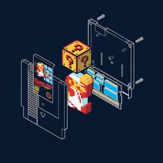 #Nintendo: Inside Super Mario Bros. cartridge t-shirt.