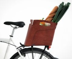 This bike bag can double as a shopping bag.