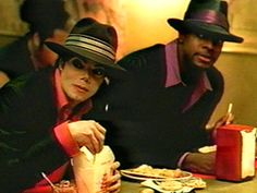 """Michael Jackson and Chris Tucker in the """"You Rock My World"""" music video  Photo: Sony Music"""