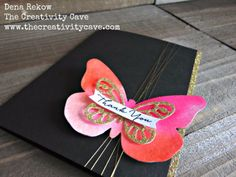 How to video on my blog for these GORGEOUS butterfly cards using Stampin Up's Bold Butterflies Thinlits and metallic accents!