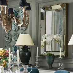 A beautiful antiqued metal mirror featuring a bevelled edge frame and beaded rim detail. Bronze finished with a slightly distressed look. Beveled Edge Mirror, Metal Mirror, Antiqued Mirror, Wall Mirror, Extra Large Mirrors, Dressing Mirror, Dressing Room, Country House Interior, Antique Metal