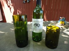 Wow - these glasses would be awesome for a wedding or business.  You could add a label announcing the bride and groom at their reception!  Upcycled / recycled glasses made from wine bottles for your earth friendly wedding or business by ConversationGlass, $7.50 each for short tumblers - convo for deals!