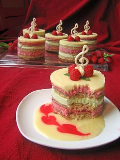 raspberry mousse and mint buttercream
