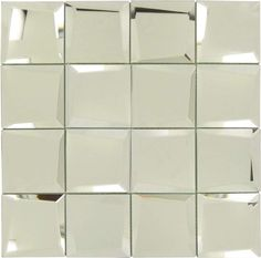 Sample of Uneven Beveled Silver x Mirror Tile Mirror Tiles, Diy Mirror, Mirrors, Tile Installation, Sheet Sizes, Tile Floor, How To Apply, Silver