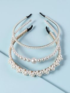 Check out this Faux Pearl Beaded Hair Hoop on Shein and explore more to meet your fashion needs! Pearl Beads, Pearl Necklace, Hair Hoops, Hair Beads, Bandana Print, Pearl Hair, Hair Accessories For Women, Scarf Hairstyles, Headbands