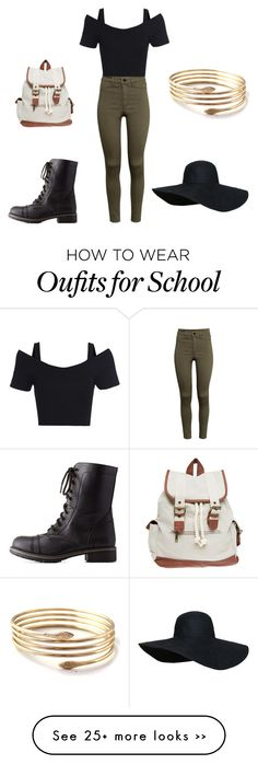 """Back to school 2015"" by amber-de-bleeckere on Polyvore featuring H&M, Charlotte Russe and Wet Seal"