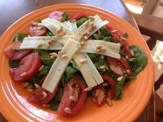 Vegan Italian Style Arugula Salad, perfect for spring time lunch.