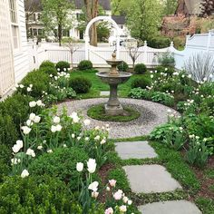 In this article we will discuss how to design a strictly formal garden on a large, rectangular area. Designing formal garden needs a little . Formal Gardens, Small Gardens, Outdoor Gardens, Modern Gardens, Side Gardens, Water Gardens, Jardin Luxuriant, Front Yard Landscaping, Landscaping Ideas
