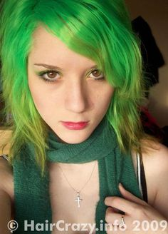 Spring Green Hair