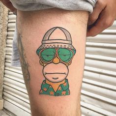 @vinzflag Epic mashup of Homer X Fear and Loathing. --------------------------------------------- #thesimpsonstattoo #thesimpsons #simpsonstattoo #simpsons #tattoo #moe #inked #tat #tattyslip #simpsonsfan #homer #bart #lisa #maggie #marge #mattgroening #futurama #cartoontattoo #cartoontats #epictattoo #simpsonstat