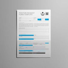 Form Template  Position Request  Cmyk  Print Ready  Clean And