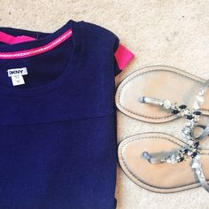 DKNY Purple Thermal with Pink Trim LIKE NEW DKNY purple and pink thermal!  Super cute and would go great with simple black leggings and shoes  ✨ 58% Rayon // 38% Cotton // 4% Spandex ✨ No Trades!  ❗️ But feel free to make a reasonable offer!  ❗️ DKNY Tops Tees - Long Sleeve