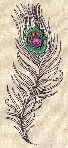 peacock feather embroidery, urban threads