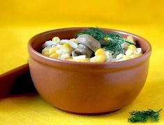 Salad with corn and mushrooms  (weight loss)