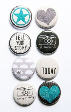 Tell Your Story Flair by aflairforbuttons on Etsy