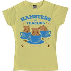 Hamster T-Shirt  Hamsters in Teacups  Ladies & by cakeswithfaces