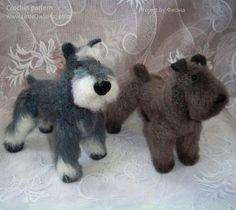 Project by Фиона. Kerry blue terrier crochet pattern by Tatiana Chirkova (Kanareika)for LittleOwlsHut #crochet pattern# Kanareika# Chirkova# LittleOwlsHut# dog# Kerry blue terrier# DIY# crafts#