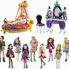FOR SALE NOW! EVER AFTER HIGH LAST COMPLETE LOT 5 REBELS AND 4 ROYALS C.A. CUPID CERISE HOOD BLONDIE LOCKES & MUCH MORE! HOT TOYS FOR GIRLS