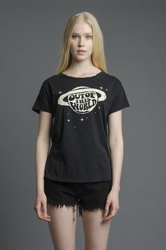 Just cut out of white iron on and assemble omfg any white things i can make  This World T-Shirt – NYLON SHOP