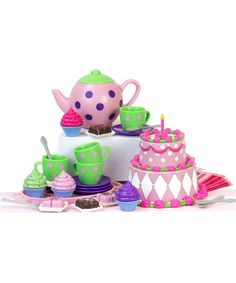 This Doll Tea Party Set for 18'' Doll is perfect! #zulilyfinds