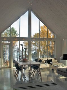 Modern wooden house in Finland. Sunhouse – Modern Prefab Homes Sunhouse Modern wooden house in Finland. Sunhouse – Modern Prefab Homes Sunhouse Modern Wooden House, Wooden House Design, Small Wooden House, Modern Prefab Homes, A Frame House, Scandinavian Home, House In The Woods, Interior Architecture, New Homes