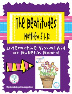 The Beatitudes Printables Bulletin Boards (more not shown)