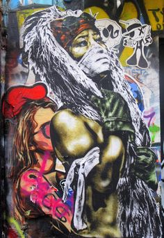 EDDIE COLLA  .. as part of collage photographed by Loulou Duagir in streets of Paris ..  [France ..]