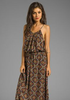 FLYNN SKYE Maxi Tank Dress in Black Floral - Dresses