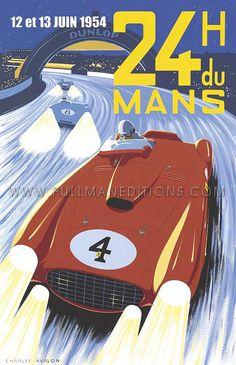 Pullman Editions Poster - 24 h Le mans 1954   24 H du Mans 1…   Thomas   Flickr