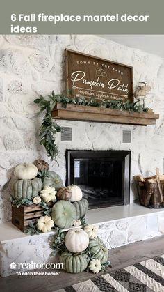 Fall Home Decor, Autumn Home, Fall Apartment Decor, Autumn Decor Living Room, Fal Decor, Fall Bedroom Decor, Fall Kitchen Decor, Fall Fireplace Decor, Farmhouse Fireplace