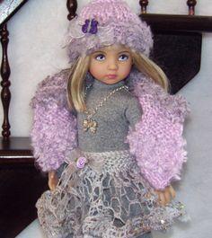 "Handmade Sweater,leotard,skirt,hat set Made fro Effner Little Darling 13""Dolls"