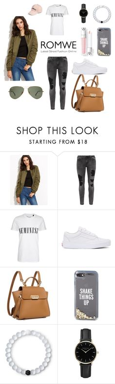 """""""#ROMWE"""" by lgeorgiou ❤ liked on Polyvore featuring WithChic, Zizzi, Tee and Cake, Vans, ZAC Zac Posen, Kate Spade, Lokai, ROSEFIELD and Amici Accessories"""