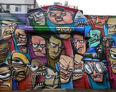 Ewok street art shutter NYC Shutters – Part VI: Ewok, Alice Mizrachi, Michael De Feo, Part One, Vato, Beau, Elle & Hue, Crisp, Fumero and Icy & Sot