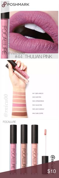 """Fall Line! Matte Pink All Day Wear Lipstick! A Long-wearing, liquid Lipstick that dries Matte with an intense color payoff! Lightweight formula infused with antioxidants & an exclusive complex to help maintain the lips hydration. One thin coat has Amazing transfer-free staying power! (shopfocallure.com)  ✔️Popular 5⭐️ Product, Sealed in Box ✔️""""Thulian Pink"""" ✔️Cruelty Free, NO Parabens or Phthalates ✔️Pic's obtained Online   *NO TRADES *Prices are FIRM-Listed at Lowest Price Unless BUNDLED…"""