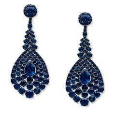 Stephen Russel Sapphire and Gold Earrings  stephenrussell.com/instyle.com
