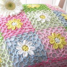 Transcendent Crochet a Solid Granny Square Ideas. Inconceivable Crochet a Solid Granny Square Ideas. Crochet Flower Squares, Granny Square Crochet Pattern, Crochet Borders, Crochet Flower Patterns, Crochet Blanket Patterns, Crochet Motif, Crochet Designs, Crochet Flowers, Crochet Stitches
