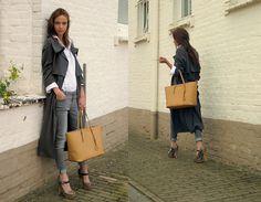 #fashion - Minimarket - Marni -Michael Kors - grey overcoat - jeans - beige bag