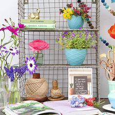 Our third amazing entry to this week's styling challenge comes from @capturebylucy!  We love how bright and colourful Lucy has styled her wire locker room shelf; perfect for spring!