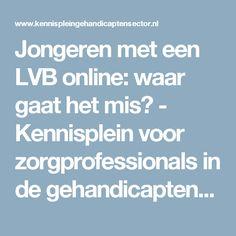 Jongeren met een LVB online: waar gaat het mis? - Kennisplein voor zorgprofessionals in de gehandicaptenzorg